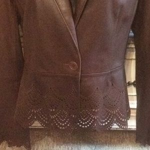Laundry By Shelli Segal Jackets & Coats - Laundry by Shelli Segal Perforated Leather Jacket